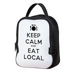 Keep Calm and Eat Local Neoprene Lunch Bag