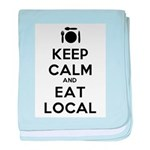 Keep Calm and Eat Local baby blanket