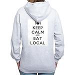 Keep Calm and Eat Local Zip Hoodie