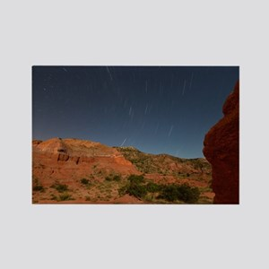 Star Trails Over Palo Duro Canyon Rectangle Magnet