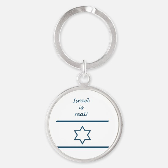 Israel Is Real Round Keychain