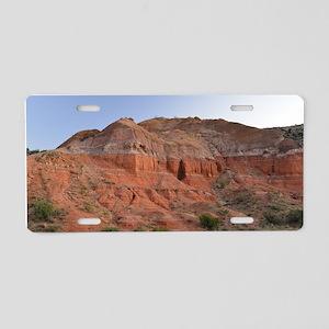 Palo Duro Canyon at Dusk Aluminum License Plate