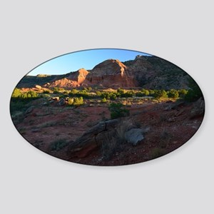 Morning Light at Palo Duro Sticker (Oval)