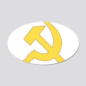 Hammer & Sickle 20x12 Oval Wall Decal