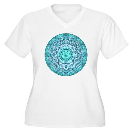 Mandala Women's Plus Size V-Neck T-Shirt