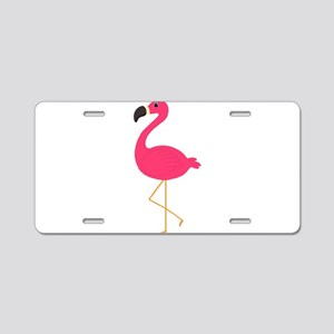 Cute Pink Flamingo Aluminum License Plate