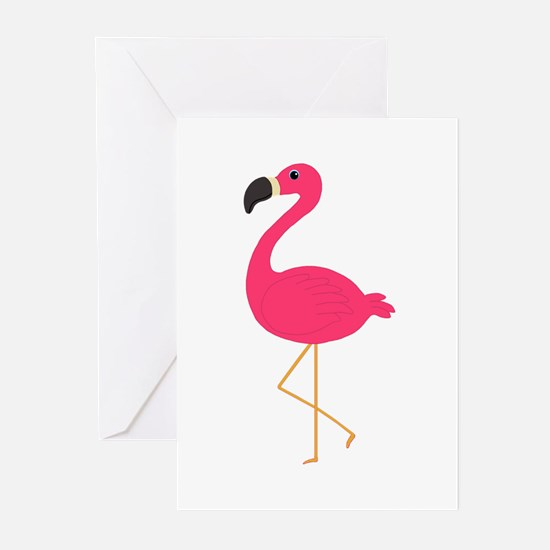 Cute Pink Flamingo Greeting Cards