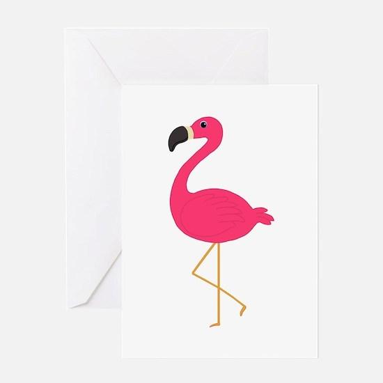 Cute Pink Flamingo Greeting Cards