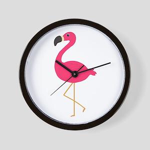 Cute Pink Flamingo Wall Clock