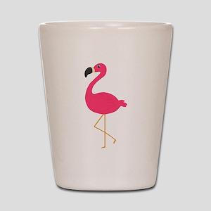 Cute Pink Flamingo Shot Glass