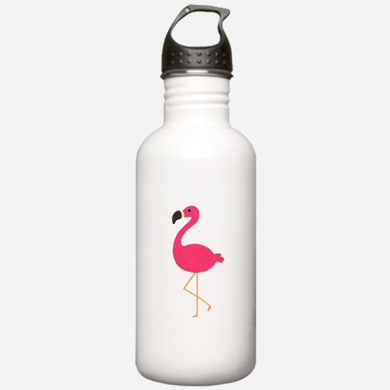 Cute Pink Flamingo Water Bottle