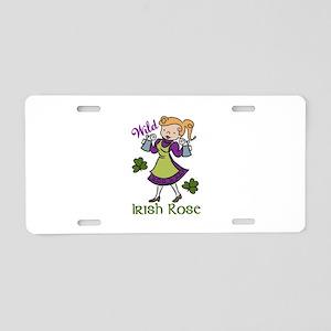 Irish Rose Aluminum License Plate