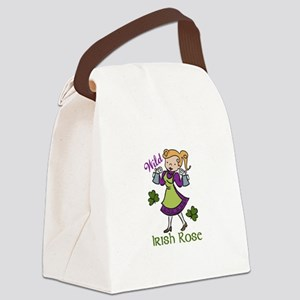 Irish Rose Canvas Lunch Bag