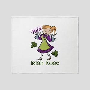 Irish Rose Throw Blanket