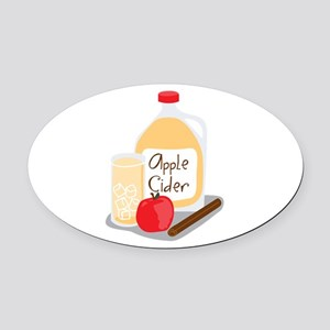 Apple Cider Oval Car Magnet