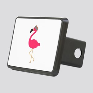 Hat Wearing Flamingo Hitch Cover