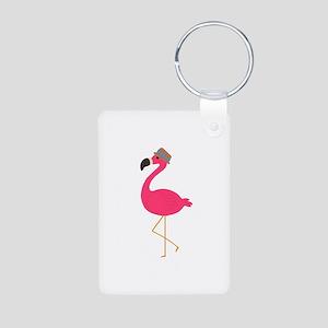 Hat Wearing Flamingo Keychains