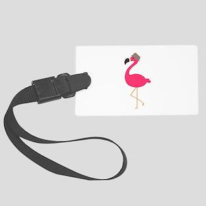 Hat Wearing Flamingo Luggage Tag