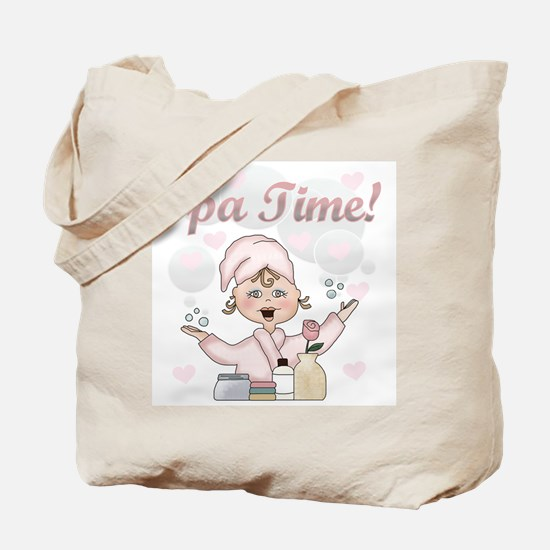 Spa Time Tote Bag