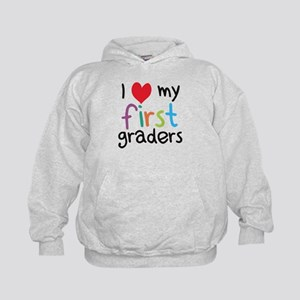 I Heart My First Graders Teacher Love Hoodie