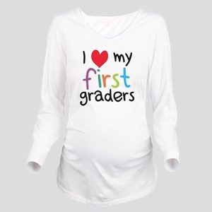 I Heart My First Graders Teacher Love Long Sleeve