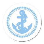 Anchor Round Car Magnet