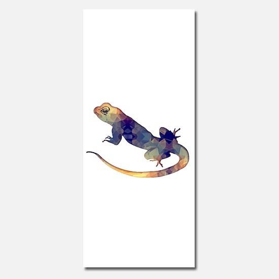 Purple & Gold Polygon Mosaic Gekko Lizard Invitati