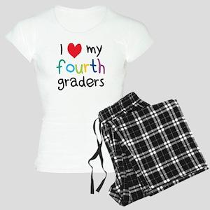 I Heart My Fourth Graders Teacher Love Pajamas