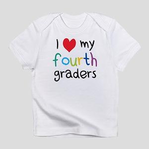 I Heart My Fourth Graders Teacher Love Infant T-Sh