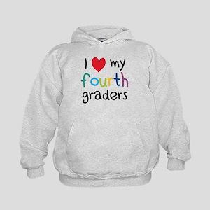I Heart My Fourth Graders Teacher Love Hoodie