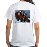 Front And Back Rwg Sharp Eye White T-Shirt