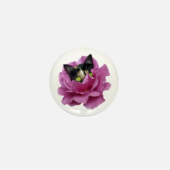 Rose Cat Mini Button