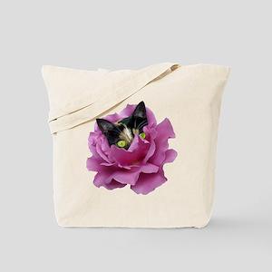 Rose Cat Tote Bag