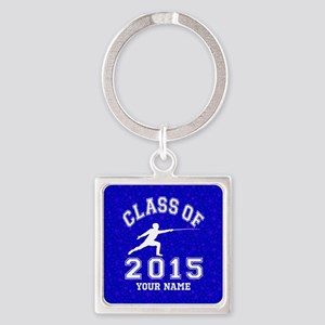 Class Of 2015 Fencing Square Keychain