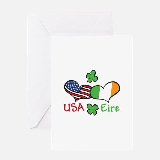 USA Eire Greeting Cards
