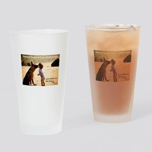 Kissing GSD Drinking Glass
