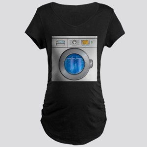Washing Machine Maternity Dark T-Shirt