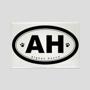 AH: Afghan Hound Rectangle Magnet