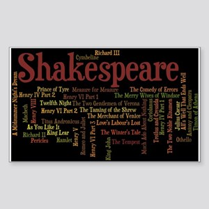William Shakespeare's Play Sticker