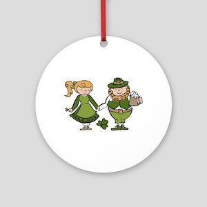 Irish Couple Ornament (Round)