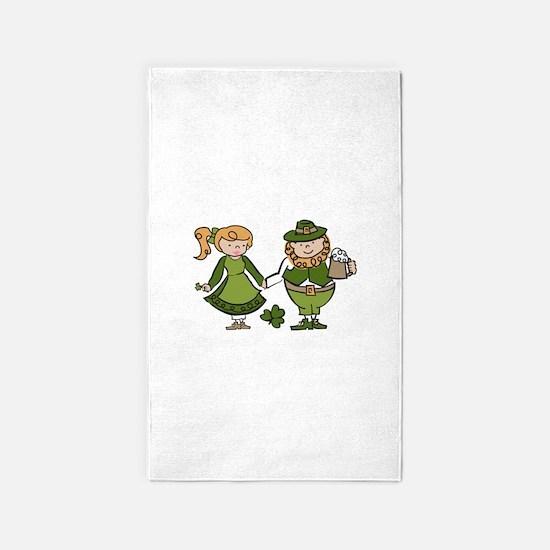 Irish Couple 3'x5' Area Rug