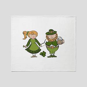Irish Couple Throw Blanket