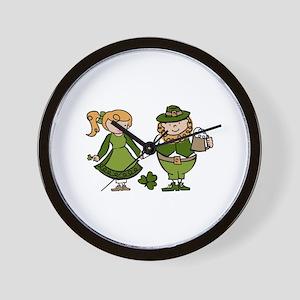 Irish Couple Wall Clock
