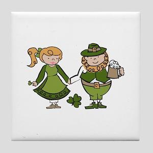 Irish Couple Tile Coaster