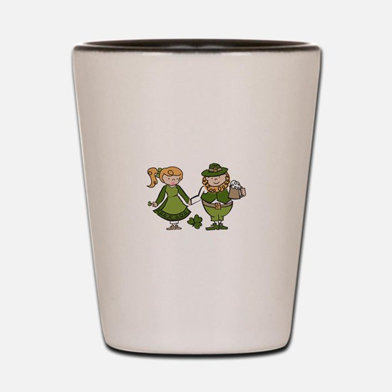 Irish Couple Shot Glass