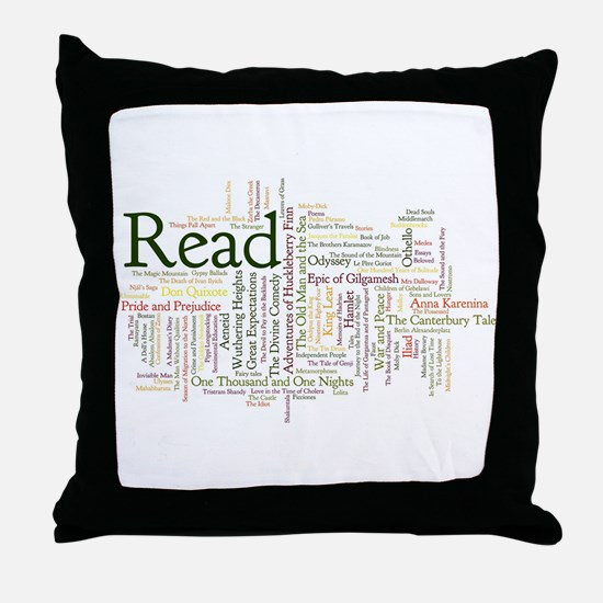 Funny Read Throw Pillow
