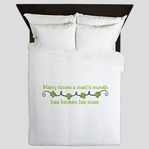 Irish Saying Queen Duvet