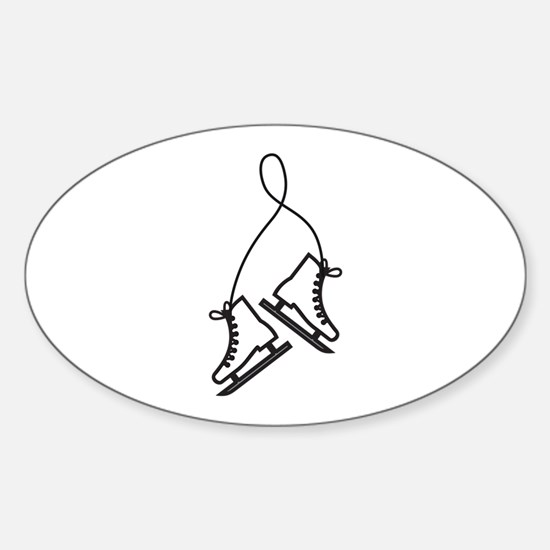 Ice Skates Decal
