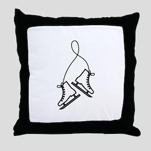 Ice Skates Throw Pillow