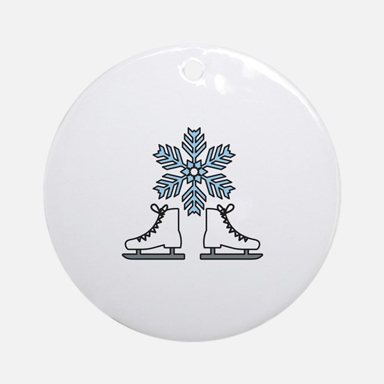 Ice Skating Ornament (Round)